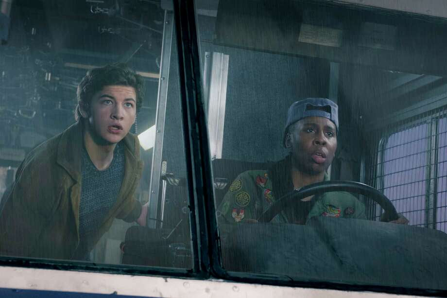 "This image released by Warner Bros. Pictures shows Tye Sheridan, left, and Lena Waithe in a scene from ""Ready Player One,"" a film by Steven Spielberg. (Jaap Buitendijk/Warner Bros. Pictures via AP) Photo: Jaap Buitendijk / © 2017 Warner Bros. Entertainment Inc."