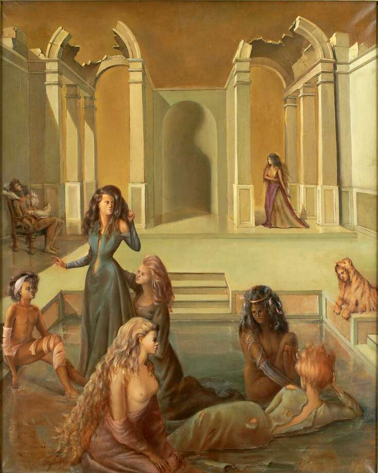 """""""One Day to Another II"""" was done by Leonor Fini in 1938."""