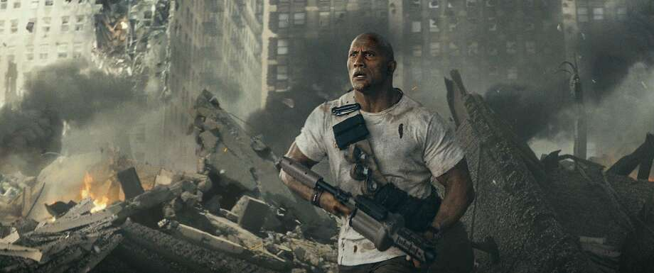 """Dwayne Johnson stars in """"Rampage,"""" the latest movie inspired by a video game. Photo Credit: Courtesy of Warner Bros. Photo: Warner Bros., Courtesy Of Warner Bros. Enterta"""