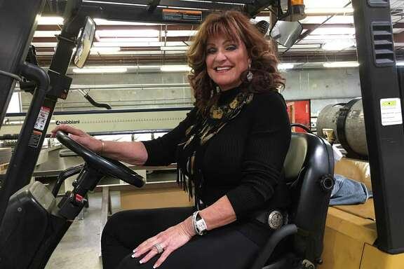Carolyn Faulk is founder of A&C Plastics. The company is one of the largest distributors of sheet plastic in the U.S.  Faulk is seen in the company's 100,000-square-foot Houston warehouse at 6135 Northdale in March 1, 2018.