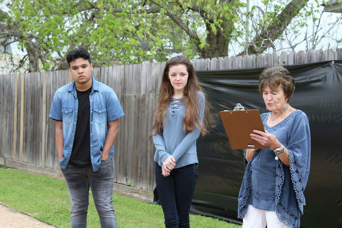 Junior Jesus Ureno, 17, said he worked on his Monochromatic piece that is now publicly displayed among the Magnolia ISD Winning Rodeo Art.The Magnolia Stroll Committee hosted its installation Saturday morning. During the ceremony, the students�' art work, which is printed on large all-weather banners, were unveiled following the district�'s art show sponsored by the Houston Livestock Show and Rodeo. Each spring since 2012, the reproductions have been installed on The Wall of Fame in the downtown Magnolia park known as The Stroll, along Dean Street, between FM 1774 and Commerce Street.