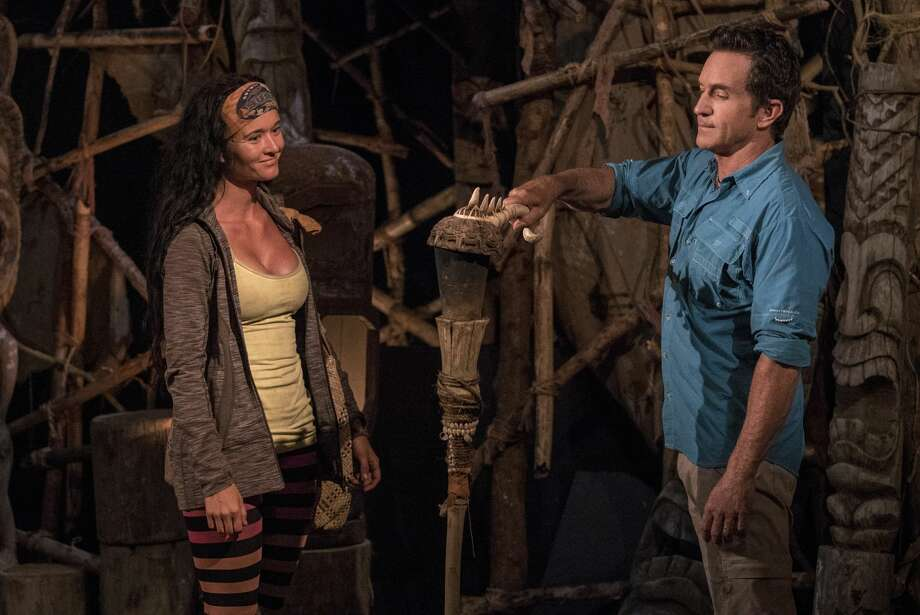 "MANA ISLAND - JUNE 18: ""A Diamond In The Rough"" - Jeff Probst extinguishes Stephanie Johnson's torch at Tribal Council on the fifth episode of Survivor: Ghost Island, airing Wednesday, March 21 (8:00-9:01 PM, ET/PT) on the CBS Television Network. (Photo by Robert Voets/CBS via Getty Images) Photo: CBS Photo Archive/CBS Via Getty Images"