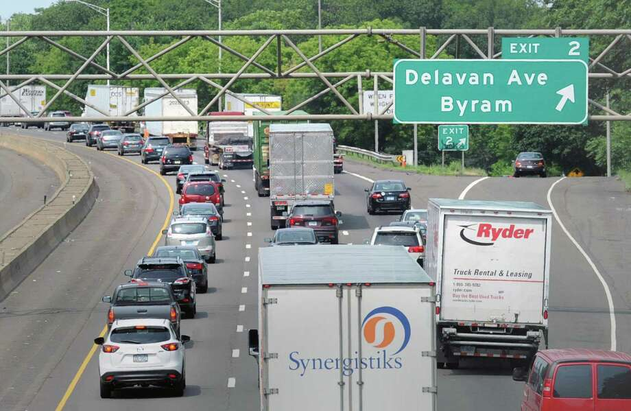 Traffic congestion on I-95 northbound near exit 2 in Greenwich, Conn., Thursday, June 29, 2017. Department of Transportation Commissioner James Redeker was in Greenwich this week to discuss transportation issues. Photo: Bob Luckey Jr. / Hearst Connecticut Media / Greenwich Time