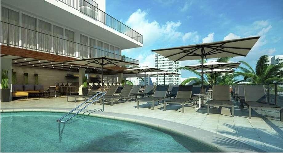 The pool at the Hilton Garden Inn Waikiki in Honolulu. Photo: Hilton