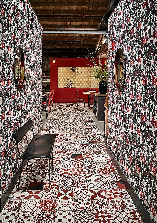 Che Fico's wallpaper includes images of fig trees. Photo: Douglas Friedman
