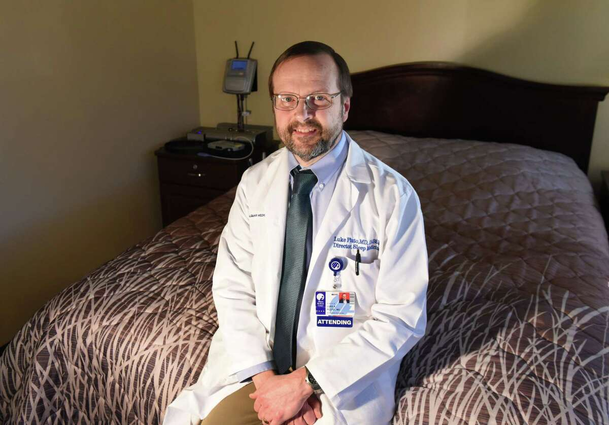 Dr. Luke Pluto is pictured at the Albany Medical Center Sleep Lab on Tuesday, Feb. 27, 2018, on Washington Ave. in Albany, N.Y. (Will Waldron/Times Union)
