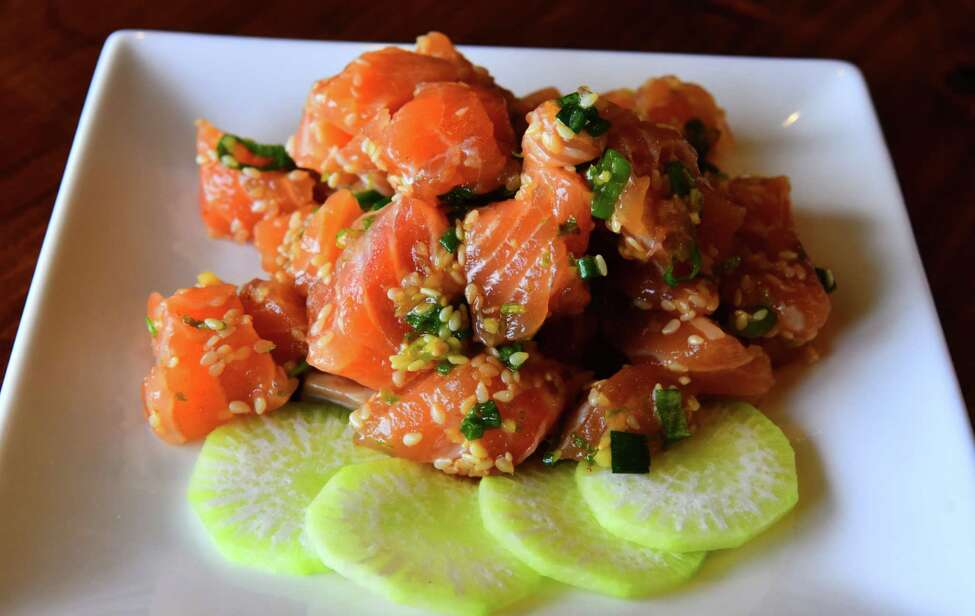 Ginger-lime salmon poke from Fin ?- Your Fishmonger in Guilderland. (Photo by Steve Barnes/Times Union.)