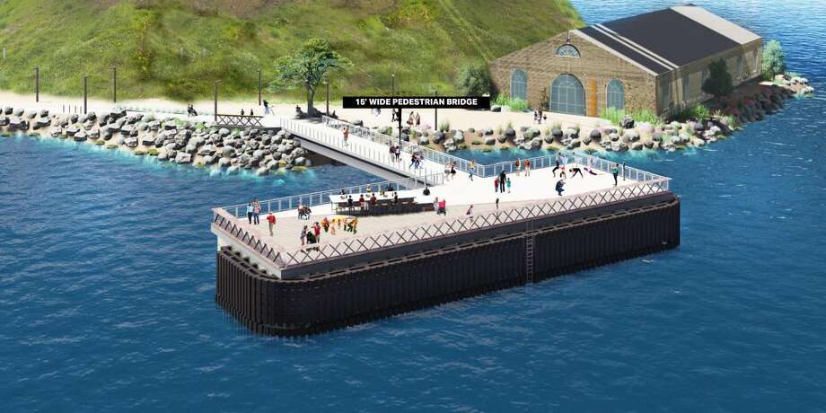 Artist rendering of the observation area on Yerba Buena Island. Photo: Courtesy Caltrans