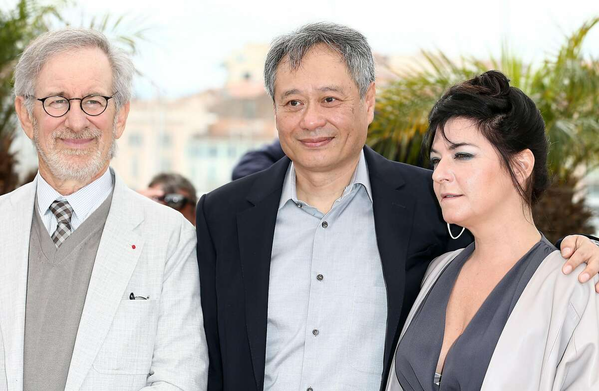 Jury President Steven Spielberg and jury members Ang Lee and Lynne Ramsay attend the Jury Photocall during the 66th Annual Cannes Film Festival at the Palais des Festivals on May 15, 2013 in Cannes, France. (Photo by Andreas Rentz/Getty Images)
