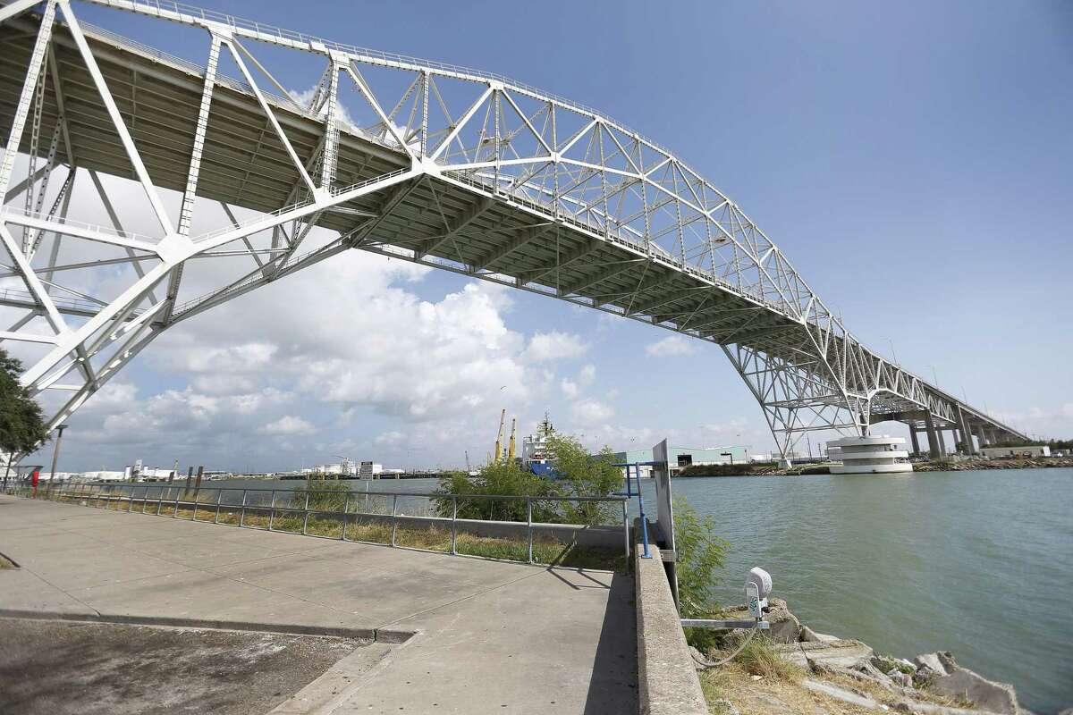 The Corpus Christi Harbor Bridge, seen on Aug. 10, 2016.