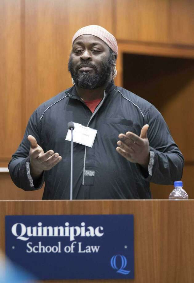 Isa Mujahid, who received the Quinnipiac University Black Law Students Association's Community Service Award, is the founder of CTCORE-Organize Now, an organization that advocates for racial justice. Photo: Quinnipiac University - Contributed Photo