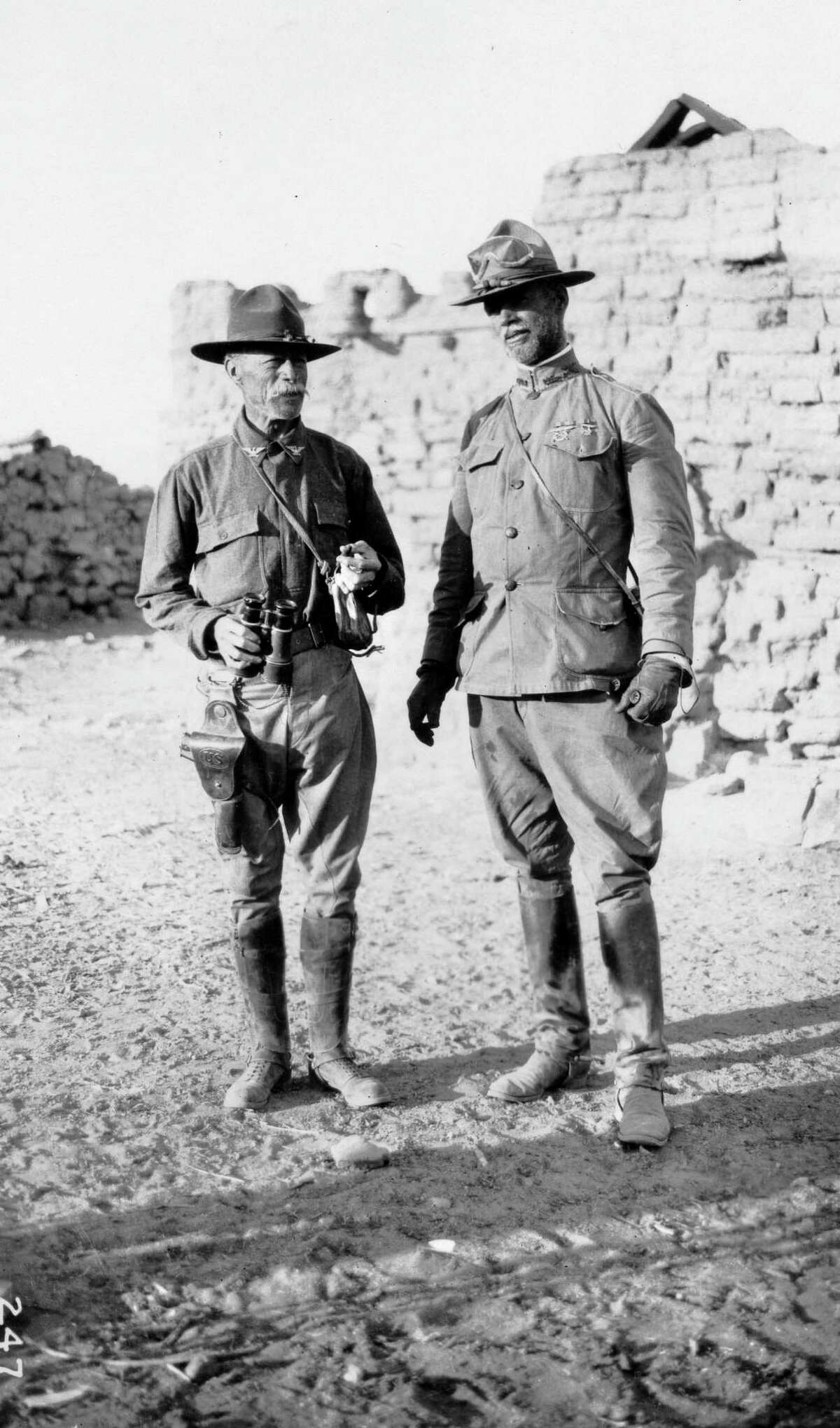 """From the book The Old Army in the Big Bend,"""" this is a photo of (left) Colonel George T. Langhorne, Eighth Cavalry and Colonel Frederick W. Sibley, Fourteenth Cavalry. In the Big Bend, Langhorne commanded an Eighth Cavalry squadron in 1916, and was the regimental commander, 1917?-19."""