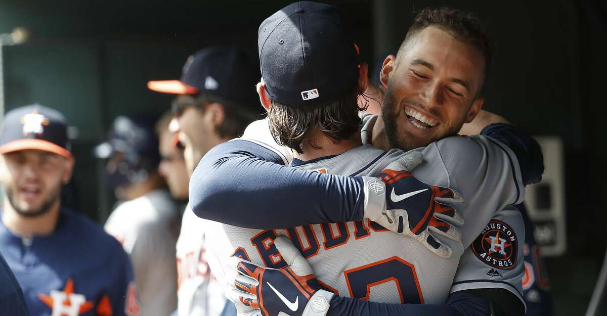 March 29: Astros 4, Rangers 1 Record: 1-0 Houston Chronicle's Player of the Game George Springer 1 for 4/ 1 HR/ 1 BB Became the first player in MLB history to hit leadoff homers in consecutive opening-day games.