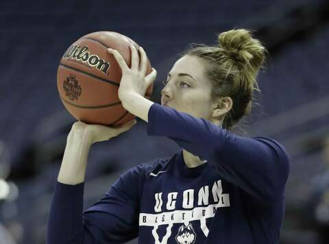 f2e276d2a0b Connecticut s Katie Lou Samuelson shoots during a practice session for the  women s NCAA Final Four college