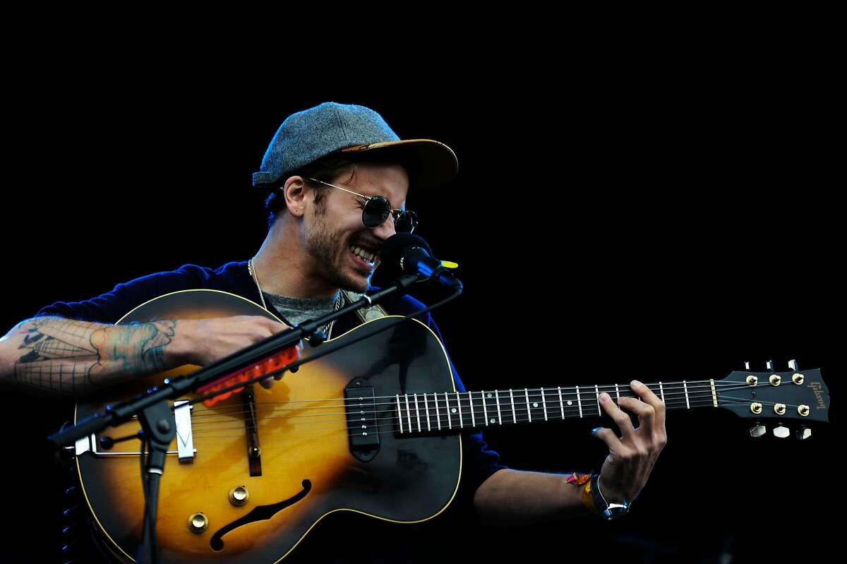 FIEL-- Portugal. The Man sings at Outside Lands Music Festival on Saturday, Aug 11, 2012 in San Francisco.
