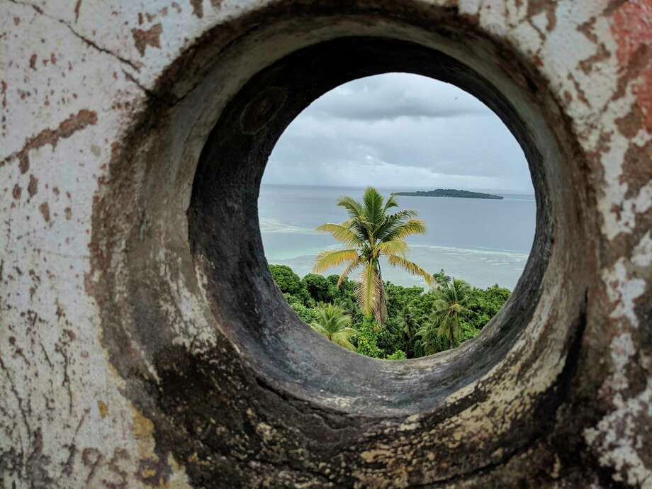 This Oct. 30, 2017 photo shows a view from the top of a WWII-era lighthouse in Chuuk, Micronesia. (AP Photo/Nicole Evatt) Photo: Nicole Evatt / Copyright 2018 The Associated Press. All rights reserved.