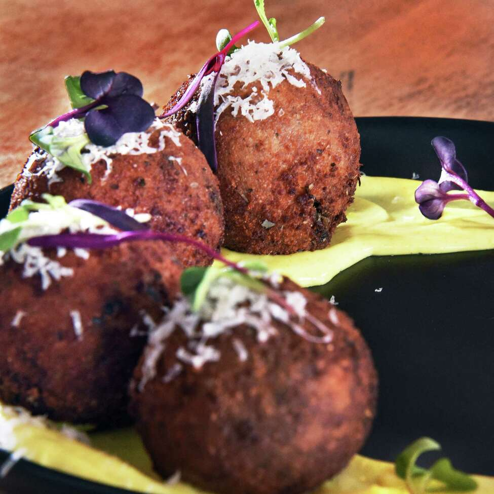 Arancini at Caskade Kitchen & Bar on Remsen Street Wednesday March 21, 2018 in Cohoes, NY. (John Carl D'Annibale/Times Union)