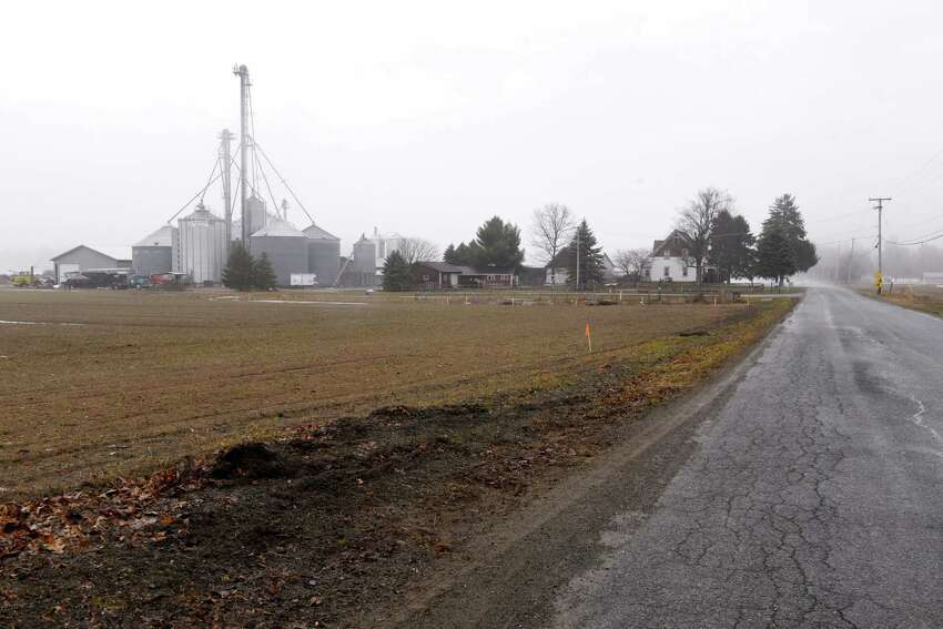 Farmland on Verbeck Avenue near where Forefront Power wants to build a 12-acre community solar power array on Thursday, March 29, 2018, in Schaghticoke, N.Y. (Will Waldron/Times Union)