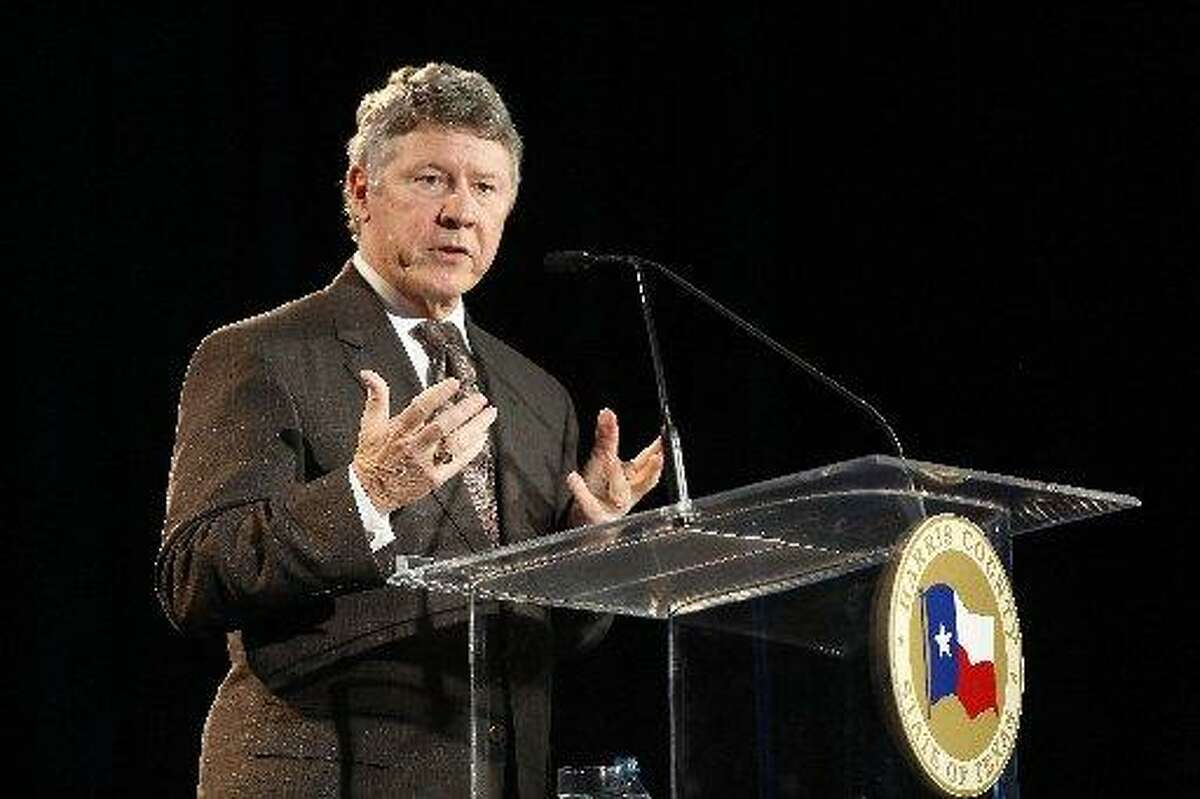 Harris County Judge Ed Emmett said the region has made progress recovering from Hurricane Harvey in August 2017, but must do more to prepare for future storms that are certain to come.