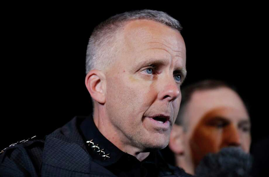 """I actually agree now that he was a domestic terrorist for what he did to us,"" interim Austin Police Chief Brian Manley says. Photo: Eric Gay /Associated Press / Copyright 2018 The Associated Press. All rights reserved."