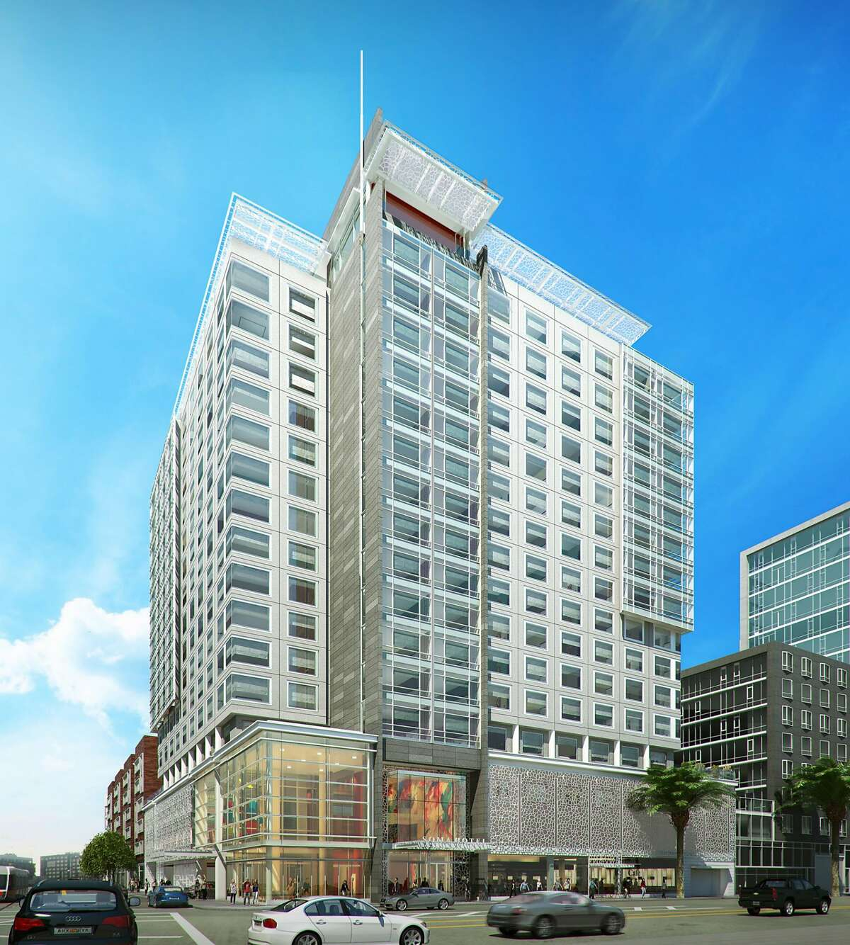 The 250-room, 17 story hotel will include a streetside caf�, and� rooftop lounge and garden.