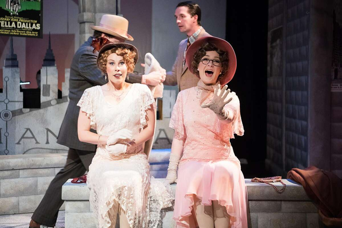 """From left:�Courtney Hatcher and Caitlin Waite�in 42nd Street Moon's """"Saturday Night."""""""