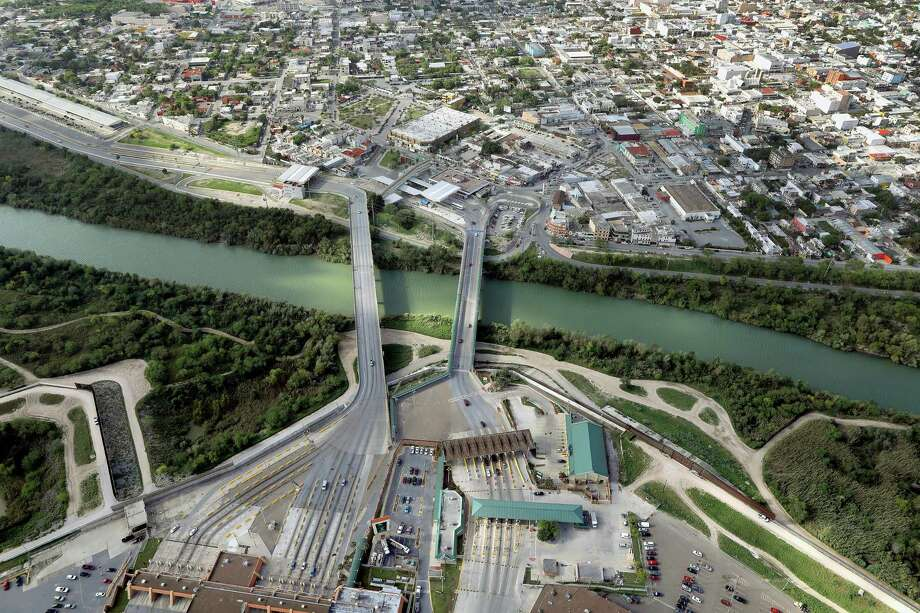 The Rio Grande flows under the McAllen-Hidalgo-Reynosa International Bridge. Manuel Gonzalez Flores, the interim governor of Nuevo Leon, is advising his citizens against traveling on the bridge. Photo: John Moore /Getty Images / 2017 Getty Images