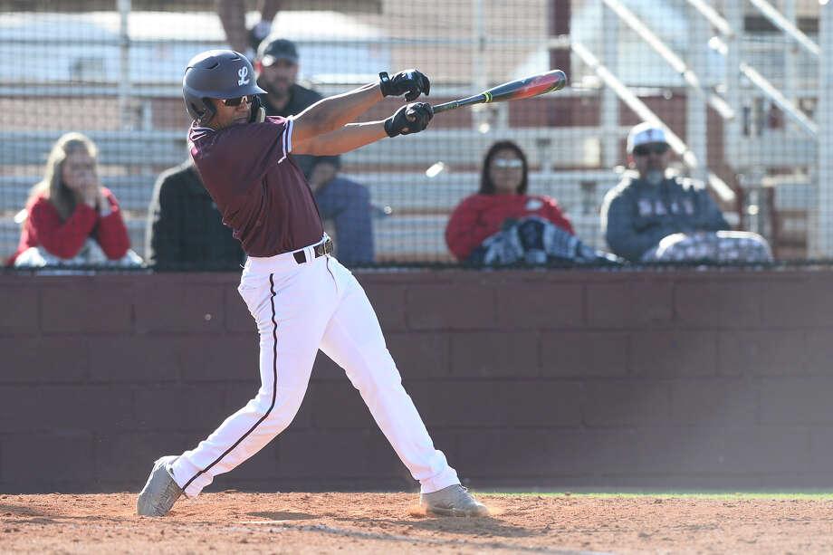 Lee's Jordan Matthews (2) hits against Amarillo Tascosa March 29, 2018, at Ernie Johnson Field. James Durbin/Reporter-Telegram Photo: James Durbin