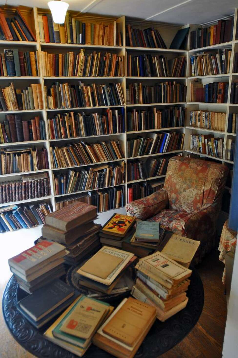 Nobody was allowed in Edna St. Vincent Millay?s book-lined private library, not even her husband, where she made her intentions clear by hanging a handmade sign from the ceiling that read, ?SILENCE.? ( Philip Kamrass / Times Union)