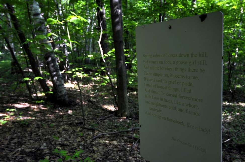 A poem by Edna St. Vincent Millay is along the Millay Poetry Trail. ( Philip Kamrass / Times Union)