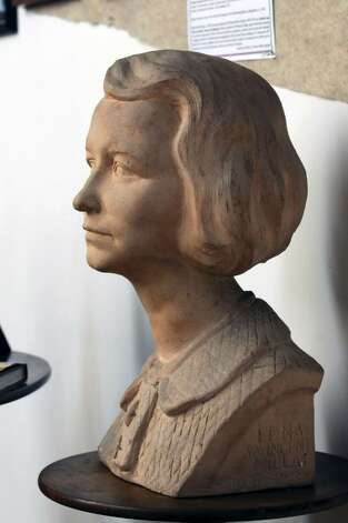A bust of poet Edna St. Vincent Millay on display at the Edna St. Vincent Millay Society at Steepletop. (Philip Kamrass / Times Union) Photo: PHILIP KAMRASS