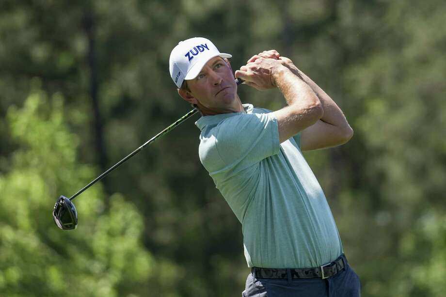 Lucas Glover plays his shot from the eighth tee during the first round of the Houston Open at the Golf Club of Houston on March 29, 2018. Photo: Tim Warner, Freelance / For The Chronicle / Houston Chronicle