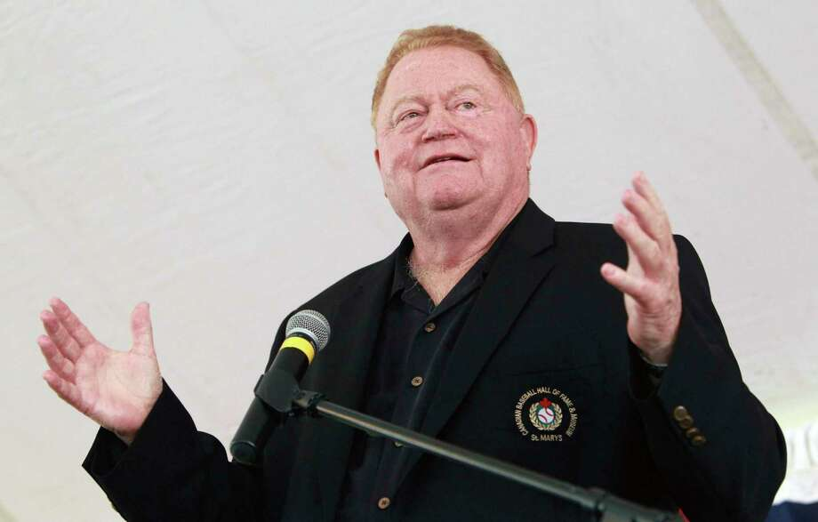FILE - In this June 23, 2012, file photo, Rusty Staub speaks during his induction into the Canadian Baseball Hall of Fame in St. Marys, Ontario. Staub, who became a huge hit with baseball fans in two countries during an All-Star career that spanned 23 major league seasons, died Thursday, March 29, 2018, in Florida. He was 73.(AP Photo/The Canadian Press, Dave Chidley, File) Photo: Dave Chidley / CP