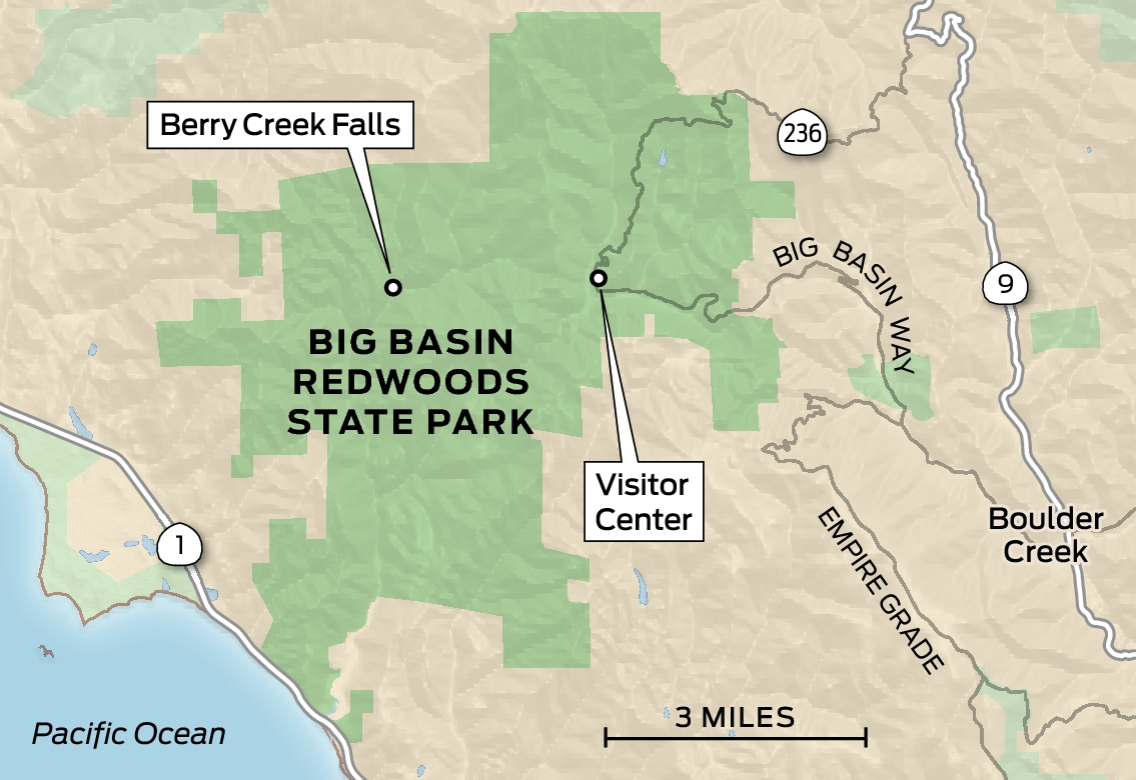 The 5 best spots around Santa Cruz to see redwoods ... Giant Redwoods California Map on best of the redwood coast map, giant coastal redwoods, redwoods ca map, redwood highway map, giant forest map, giant redwood national park map, redwood forest map,