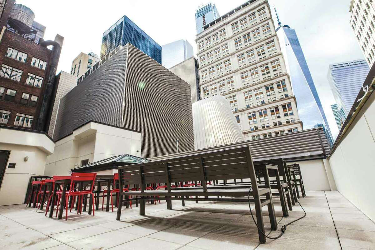 Chick-fil-A's 12,000 square-foot, five story restaurant opened on March 29, 2018. The 144 Fulton Street location seats up to 140 guests and has an open-air rooftop where people can eat outside.