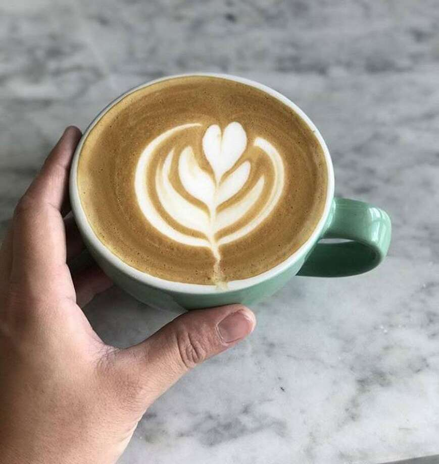 Some of the latte art with the coffee served at Berry to Bean. Photo: Courtesy Photo