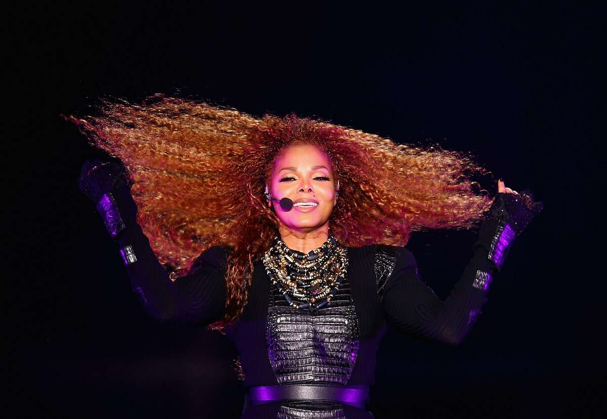 DUBAI, UNITED ARAB EMIRATES - MARCH 26: Janet Jackson performs after the Dubai World Cup at the Meydan Racecourse on March 26, 2016 in Dubai, United Arab Emirates. (Photo by Francois Nel/Getty Images)