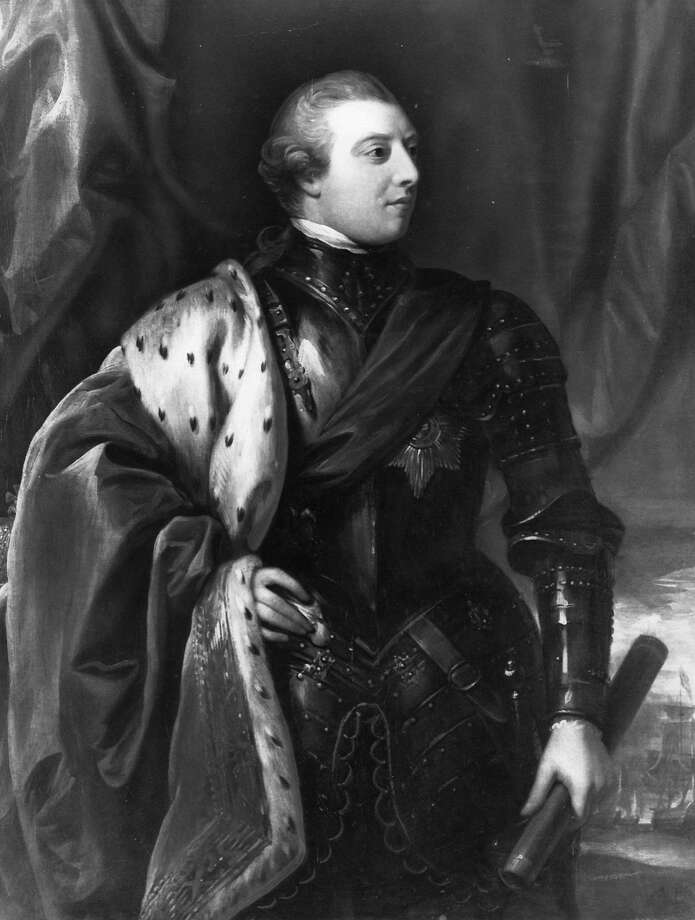 King George III, of England. Houston Chronicle file photo.     HOUCHRON CAPTION (O1/27/2004):  King George III ruled Briain from 1760-1820.     HOUCHRON CAPTION (05/04/2004): The role of England's King George III in America's war for independence was revolutionary. Explore the lives and spies of the conflict at www.si.umich.edu/spies.   WHAT'S ONLINE. Photo: Houston Chronicle Files