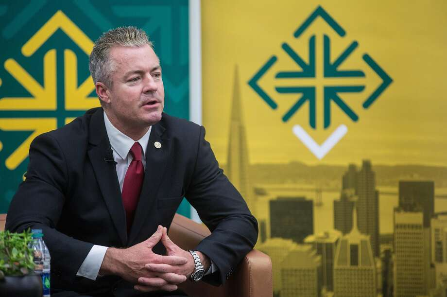 Assemblyman and California Republican governor candidate Travis Allen contends there is no food insecurity in California. Photo: Jessica Christian / The Chronicle