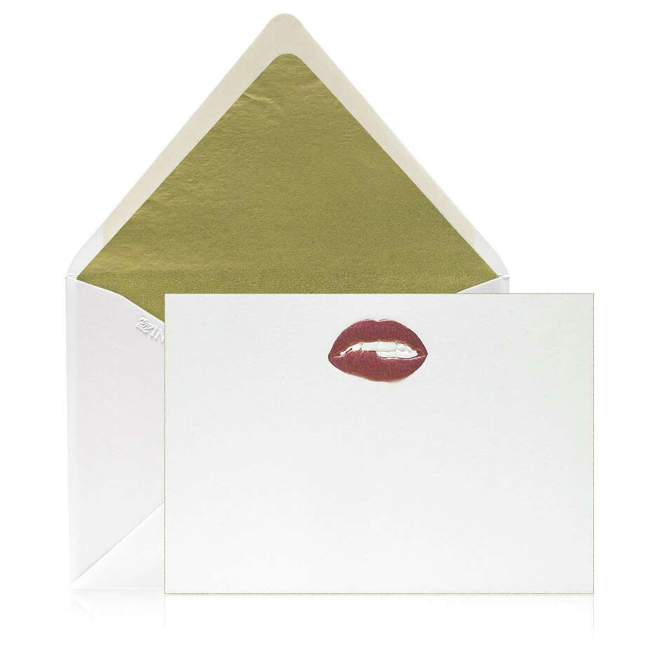 """Pucker"" is a popular stationery design in the Bell'Invito line. Photo: Bell'Invito Stationers / Contributed Photo / Connecticut Post contributed"