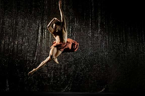 Michael Mongtomery in Alonzo King Lines Ballet's new work.  Photo: RJ Muna