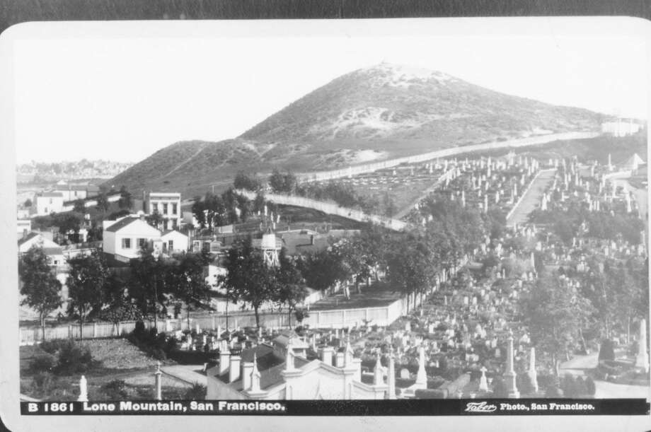 The Richmond's Lone Mountain Cemetery had a parklike feel. Photo: Wyland Stanley Collection 1861