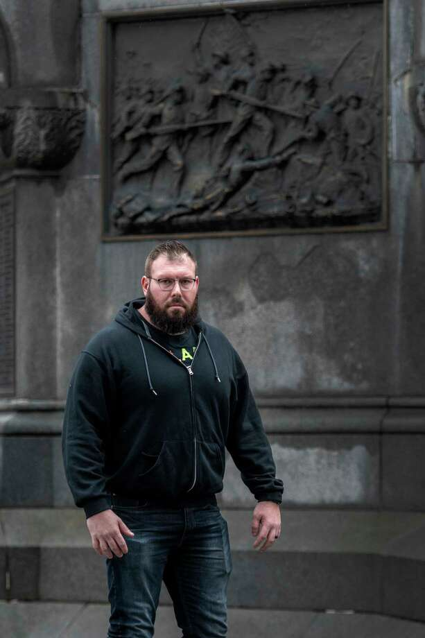 Professional wrestler Mike Parrow Jr. 34 of Orlando, Florida spoke to the Times Union  Friday March 30, 2018 in Troy, N.Y. (Skip Dickstein/Times Union) Photo: SKIP DICKSTEIN, Albany Times Union / 40043363A