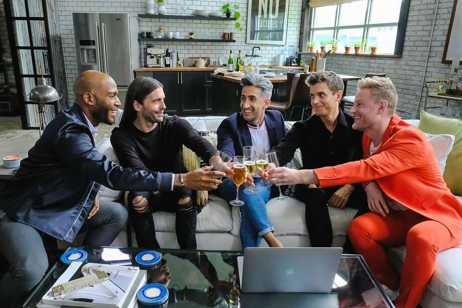 "The cast of Netflix's rebooted ""Queer Eye for the Straight Guy."" Photo: Carin Baer / Netflix / TNS"