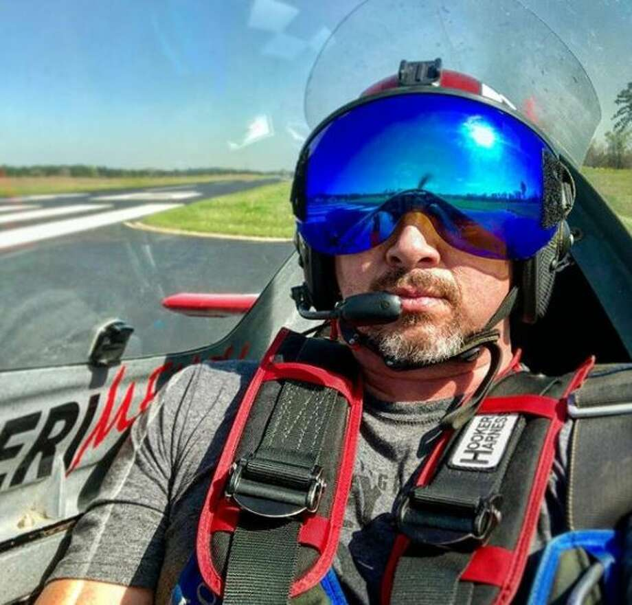 Rob Holland safely landed after his engine failed while he was more than 11,000 feet in the air. Photo: Courtesy Ultimate Airshow