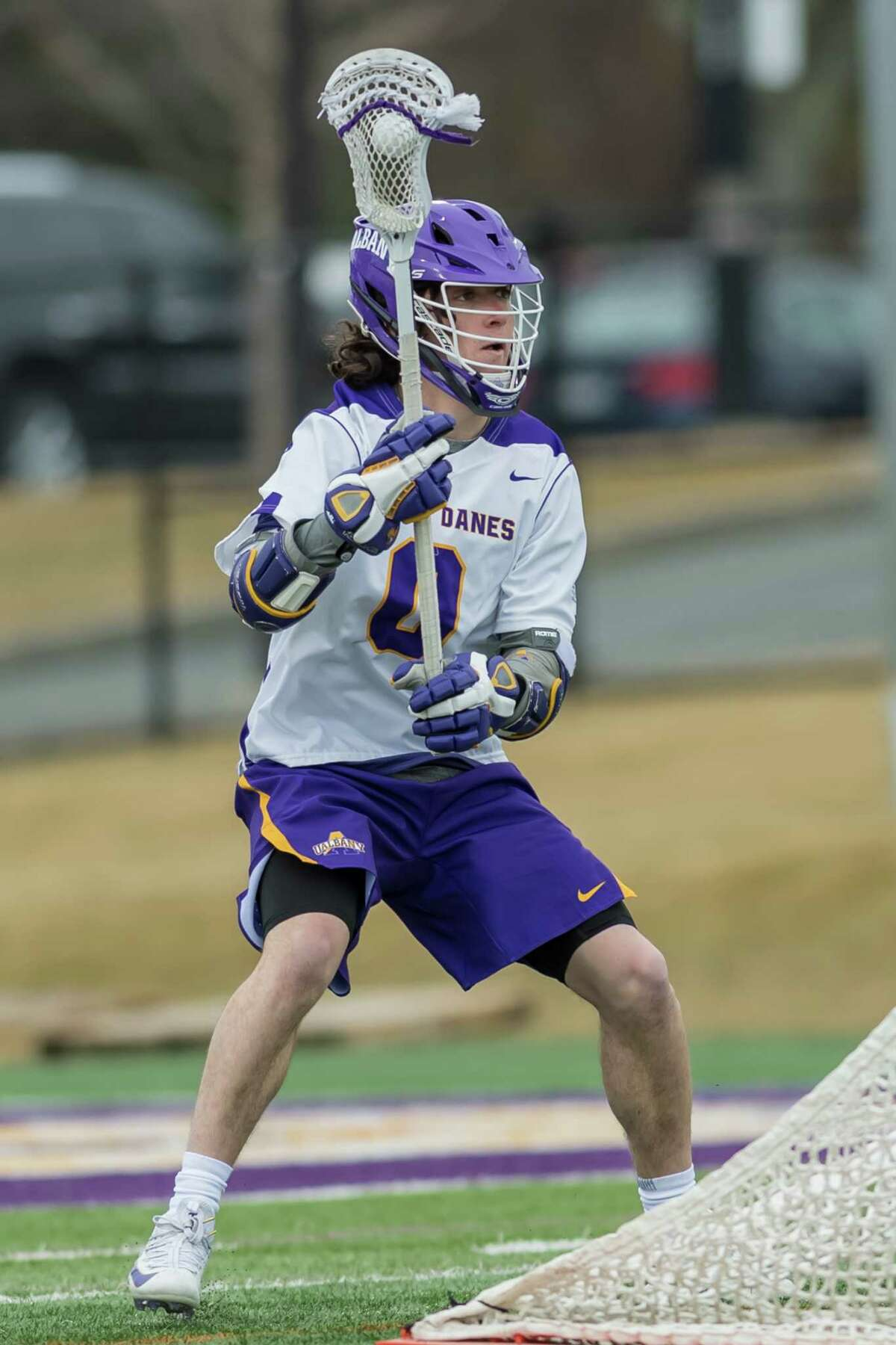 Sophomore attack Davis Diamond is likely to get his first career start against Stony Brook on Saturday. (Bill Ziskin/UAlbany athletics)