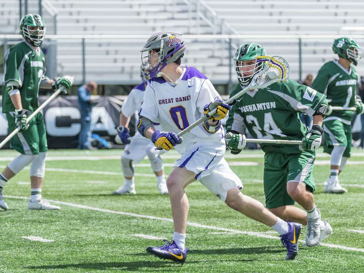 UAlbany sophomore attack Davis Diamond, shown in last year's America East title game, has three goals and five assists this season. (Bill Ziskin/UAlbany athletics)
