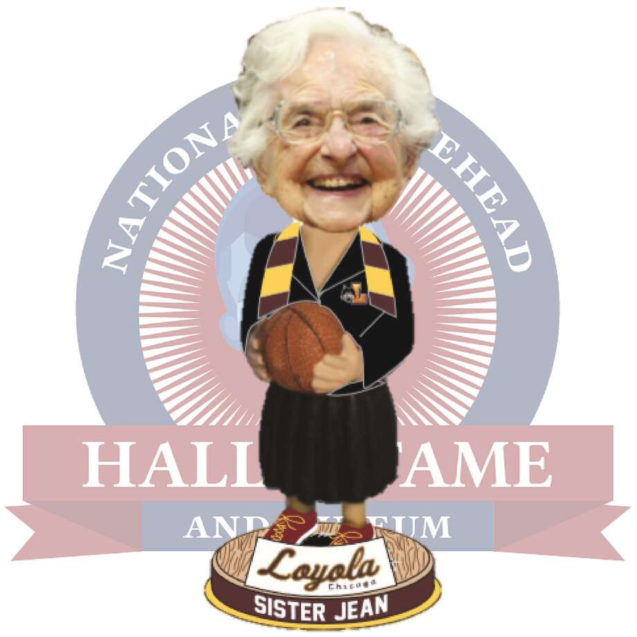 This bobblehead features Sister Jean Dolores Schmidt, the 98-year-old nun who also serves as team chaplain and honorary assistant coach for Loyola University Chicago. It'll cost you $25. Photo: National Bobblehead Hall Of Fame And Museum