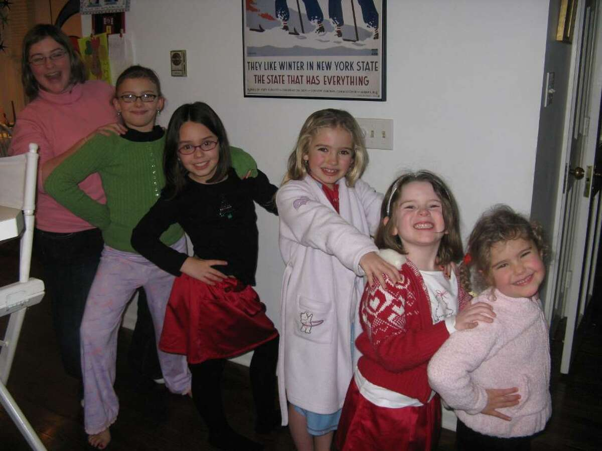 The six Schonhiutt and Skrebutenas girls became close as cousins while living in the Skrebutenas household in Niskayuna while Laura Schonhiutt battled breast cancer. The girls are, from left, Liz and Tori Schonhiutt, Lucy Skrebutenas, Rachel Schonhiutt, Caroline Skrebutenas and Sarah Schonhiutt. ( Photo provided by Anne Skrebutenas )