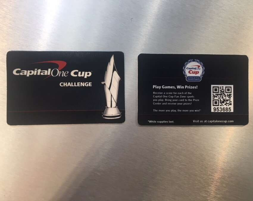 Capital One Cup Challenge Player Card Fan Fest guests will register for this card to keep track of their interactive game activity to cash in for freebies.